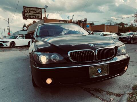 2007 BMW 7 Series for sale at 3 Brothers Auto Sales Inc in Detroit MI