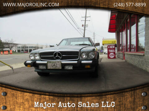 1977 Mercedes-Benz 450 SL for sale at Major Auto Sales LLC in Madison Heights MI