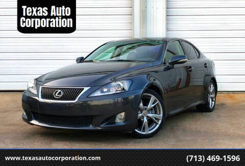 2009 Lexus IS 250 for sale at Texas Auto Corporation in Houston TX