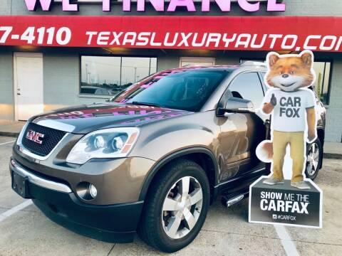 2011 GMC Acadia for sale at Texas Luxury Auto in Cedar Hill TX