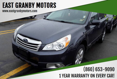 2012 Subaru Outback for sale at EAST GRANBY MOTORS in East Granby CT