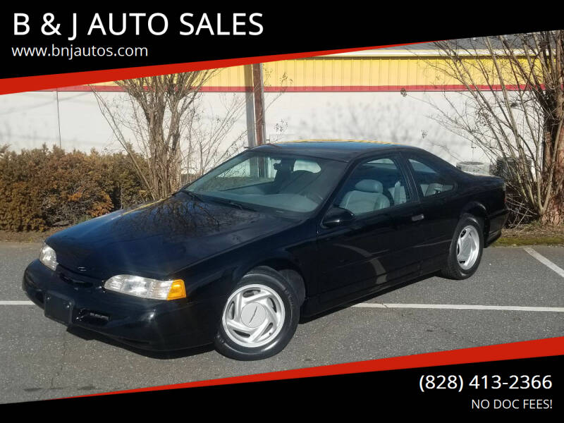 1995 Ford Thunderbird for sale at B & J AUTO SALES in Morganton NC