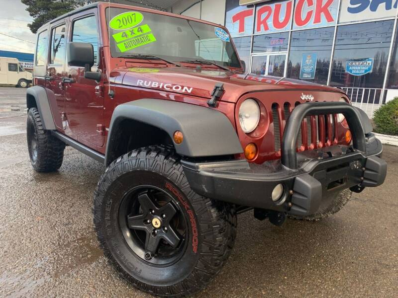 2007 Jeep Wrangler Unlimited for sale at Xtreme Truck Sales in Woodburn OR