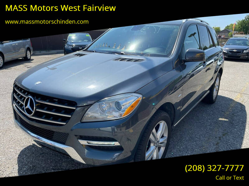 2012 Mercedes-Benz M-Class for sale at MASS Motors West Fairview in Boise ID