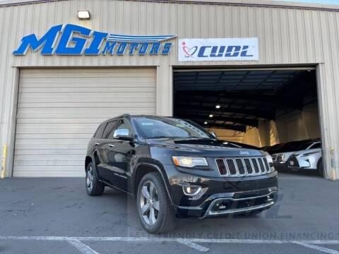 2014 Jeep Grand Cherokee for sale at MGI Motors in Sacramento CA