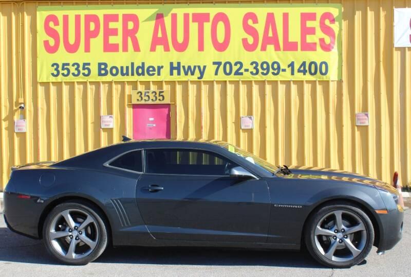 2013 Chevrolet Camaro for sale at Super Auto Sales in Las Vegas NV