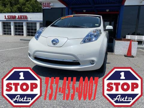 2015 Nissan LEAF for sale at 1 Stop Auto in Norfolk VA