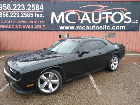 2012 Dodge Challenger for sale at MC Autos LLC in Pharr TX