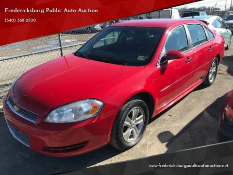2012 Chevrolet Impala for sale at FPAA in Fredericksburg VA