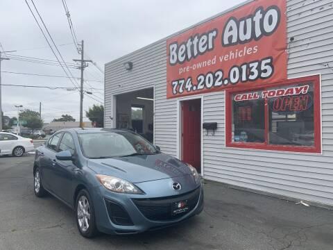 2010 Mazda MAZDA3 for sale at Better Auto in Dartmouth MA