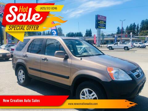2004 Honda CR-V for sale at New Creation Auto Sales in Everett WA
