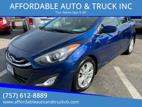 2013 Hyundai Elantra GT for sale at AFFORDABLE AUTO & TRUCK INC in Virginia Beach VA