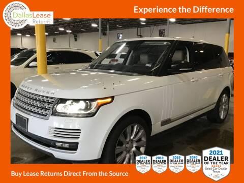2014 Land Rover Range Rover for sale at Dallas Auto Finance in Dallas TX