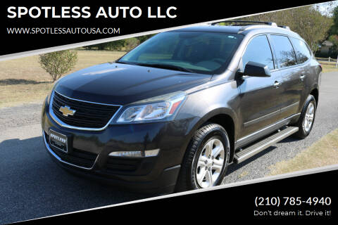 2014 Chevrolet Traverse for sale at SPOTLESS AUTO LLC in San Antonio TX