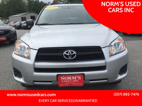 2010 Toyota RAV4 for sale at NORM'S USED CARS INC in Wiscasset ME