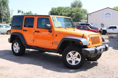 2013 Jeep Wrangler Unlimited for sale at Northern Colorado auto sales Inc in Fort Collins CO