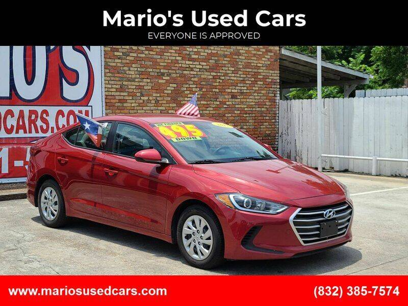 2017 Hyundai Elantra for sale at Mario's Used Cars - South Houston Location in South Houston TX