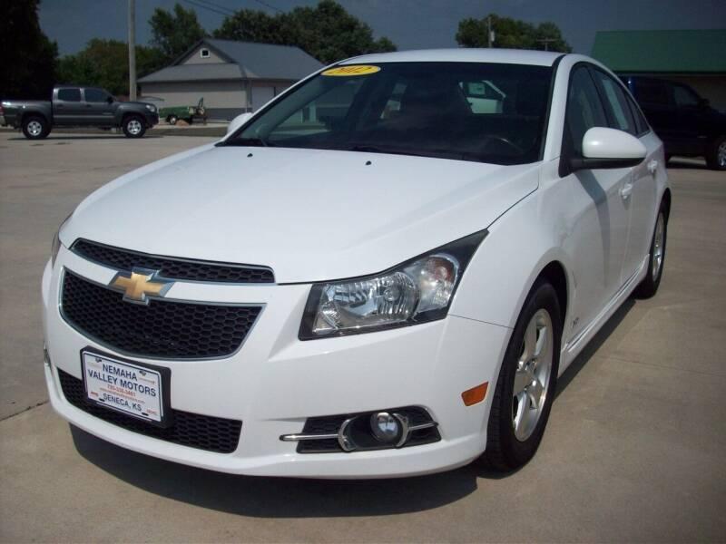 2012 Chevrolet Cruze for sale at Nemaha Valley Motors in Seneca KS