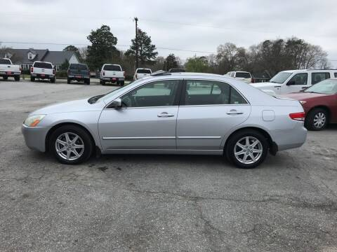 2004 Honda Accord for sale at TAVERN MOTORS in Laurens SC