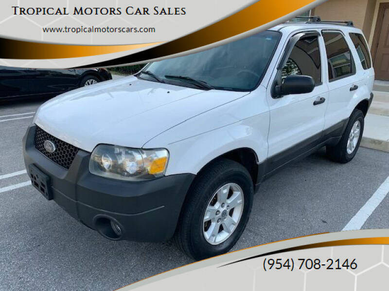 2005 Ford Escape for sale at Tropical Motors Car Sales in Deerfield Beach FL