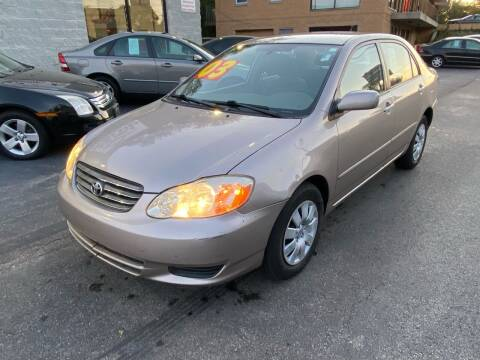 2003 Toyota Corolla for sale at Auto Deals in Roselle IL