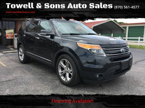 2014 Ford Explorer for sale at Towell & Sons Auto Sales in Manila AR