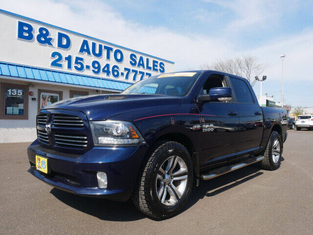 2013 RAM Ram Pickup 1500 for sale at B & D Auto Sales Inc. in Fairless Hills PA