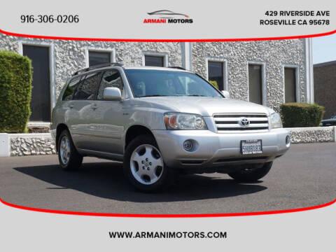 2004 Toyota Highlander for sale at Armani Motors in Roseville CA