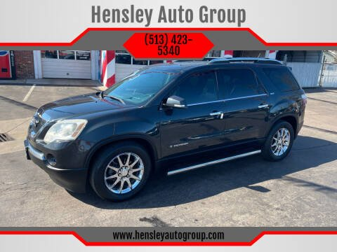2007 GMC Acadia for sale at Hensley Auto Group in Middletown OH
