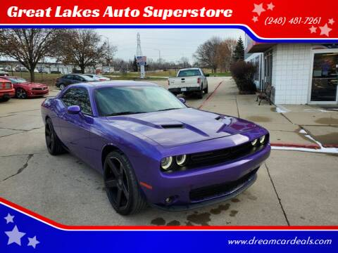 2018 Dodge Challenger for sale at Great Lakes Auto Superstore in Waterford Township MI