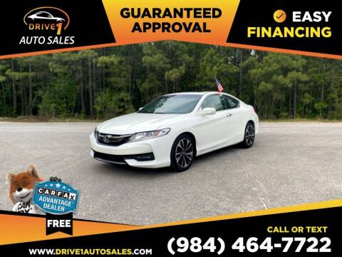 2016 Honda Accord for sale at Drive 1 Auto Sales in Wake Forest NC