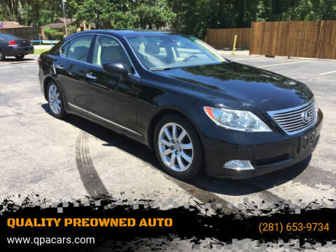 2008 Lexus LS 460 for sale at QUALITY PREOWNED AUTO in Houston TX