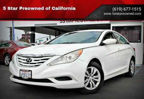 2011 Hyundai Sonata for sale at 5 Star Preowned of California in Chula Vista CA