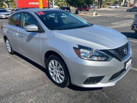 2018 Nissan Sentra for sale at Boulevard Motors in St George UT