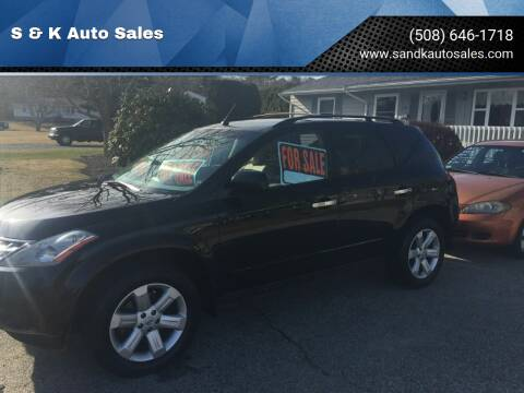 2007 Nissan Murano for sale at S & K Auto Sales in Westport MA