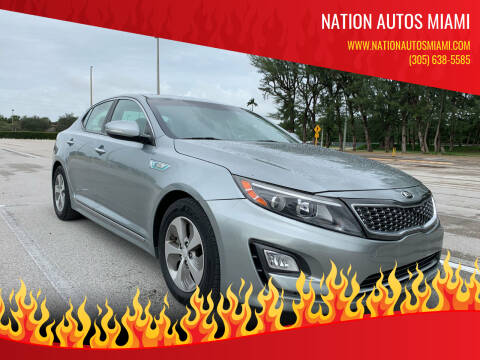 2016 Kia Optima Hybrid for sale at Nation Autos Miami in Hialeah FL