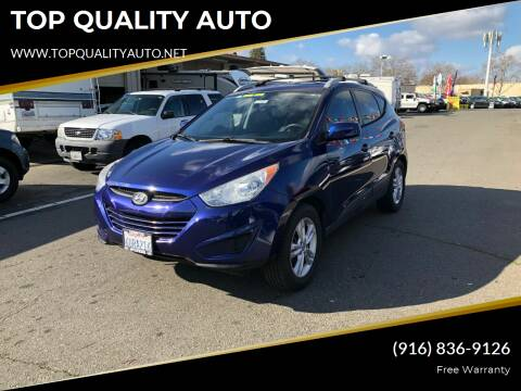 2011 Hyundai Tucson for sale at TOP QUALITY AUTO in Rancho Cordova CA