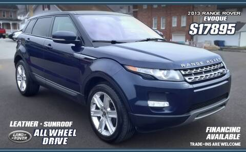 2013 Land Rover Range Rover Evoque for sale at Steel River Auto in Bridgeport OH