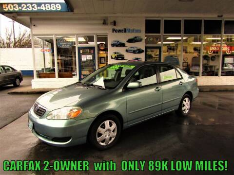 2005 Toyota Corolla for sale at Powell Motors Inc in Portland OR