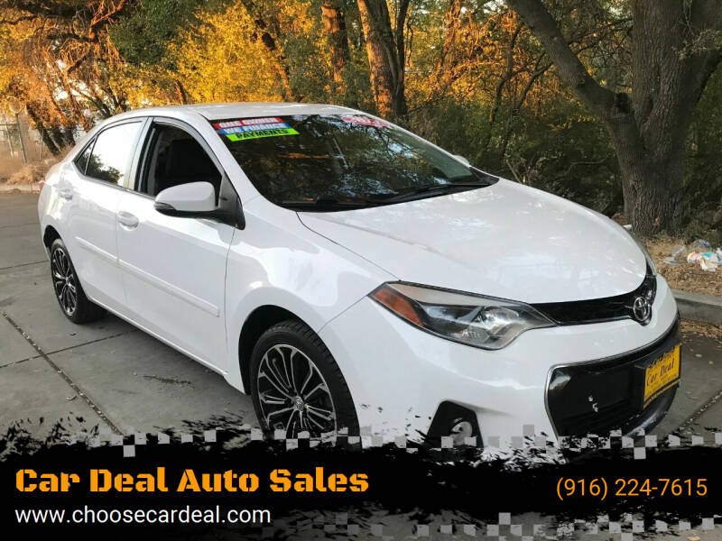 2014 Toyota Corolla for sale at Car Deal Auto Sales in Sacramento CA