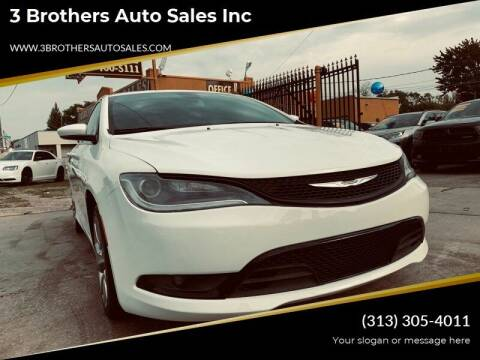 2015 Chrysler 200 for sale at 3 Brothers Auto Sales Inc in Detroit MI