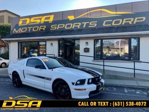 2008 Ford Mustang for sale at DSA Motor Sports Corp in Commack NY