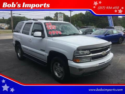 2002 Chevrolet Tahoe for sale at Bob's Imports in Clinton IL