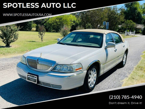 2007 Lincoln Town Car for sale at SPOTLESS AUTO LLC in San Antonio TX