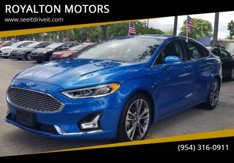 2020 Ford Fusion for sale at ROYALTON MOTORS in Plantation FL