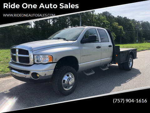 2005 Dodge Ram Pickup 3500 for sale at Ride One Auto Sales in Norfolk VA