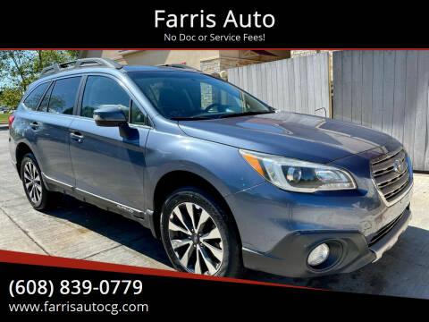 2015 Subaru Outback for sale at Farris Auto - Main Street in Stoughton WI
