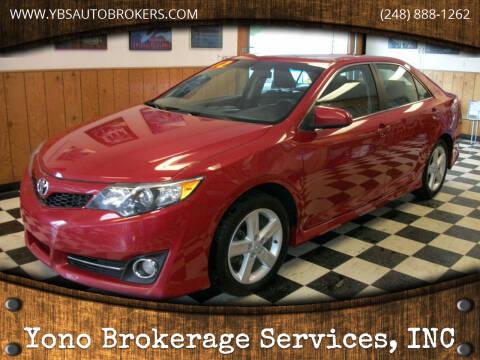 2012 Toyota Camry for sale at Yono Brokerage Services, INC in Farmington MI
