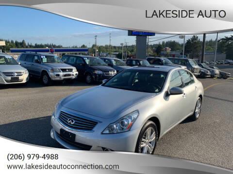 2013 Infiniti G37 Sedan for sale at Lakeside Auto in Lynnwood WA