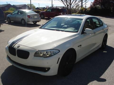 2012 BMW 5 Series for sale at Uniworld Auto Sales LLC. in Greensboro NC